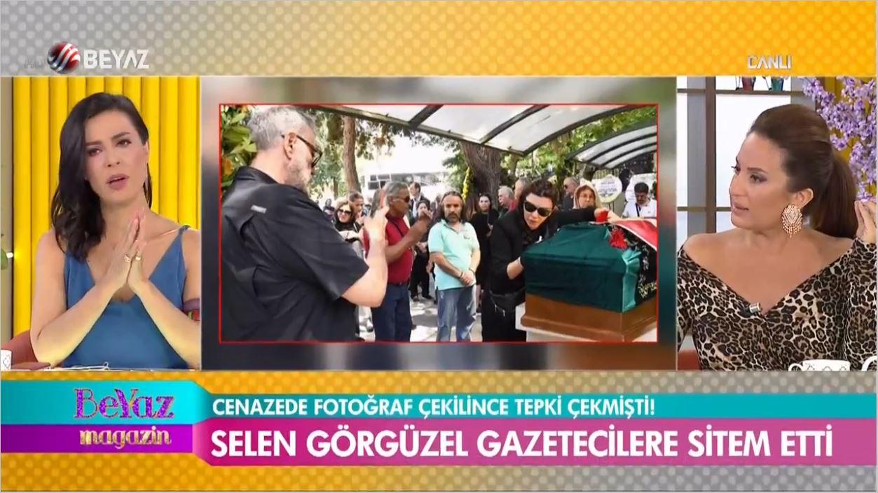 Tabutun Başında Poz Veren Selen Görgüzel'den Gazetecilere Sitem