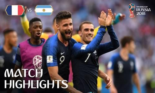 Fransa 4 - 3 Arjantin - 2018 Dünya Kupası Maç Özeti
