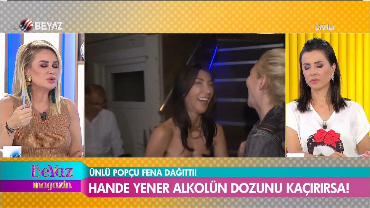 Hande Yener Alkolün Dozunu Fena Kaçırdı