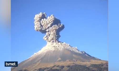 Meksika Yanardağ Alarmı  24 Saatte 3 Kere Patladı