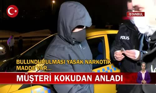 İstanbul'da Bir Taksicinin İnkarı Polisi İkna Etmeye Yetmedi! İşte Görüntüler