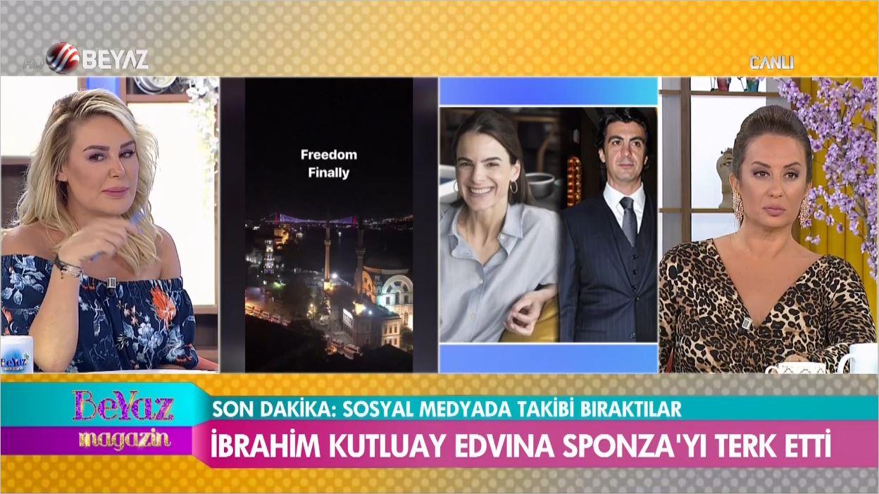 İbrahim Kutluay Uğruna Evliliğini Bitirdiği Edvina Sponza'yı Terk Etti