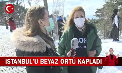 İstanbul'dan Müthiş Kar Manzaralı Görüntüler