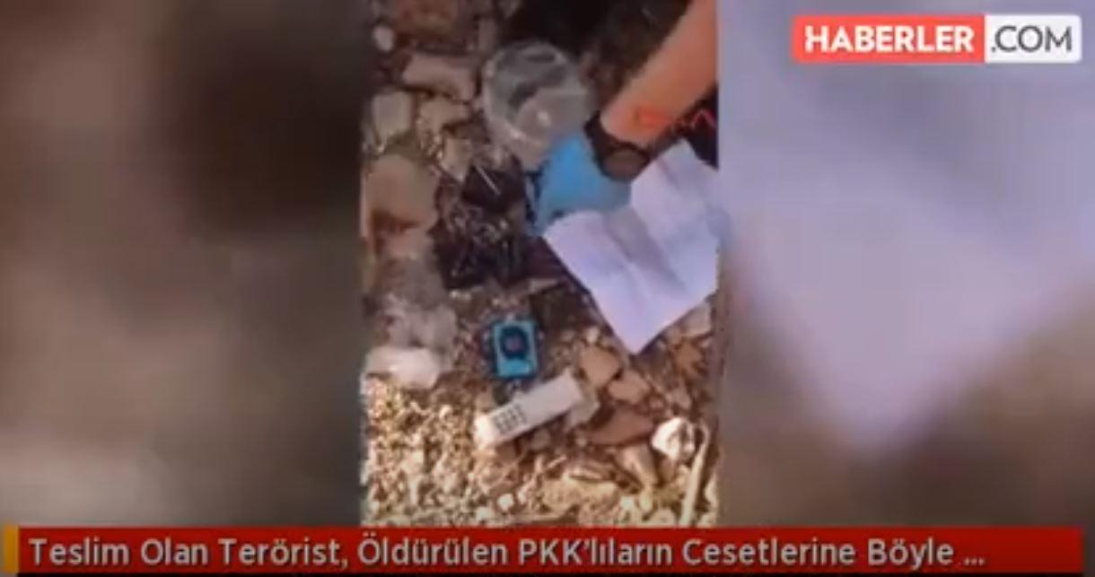Teslim Olan Terörist, Öldürülen PKK'lıların Cesetlerine Böyle Baktı