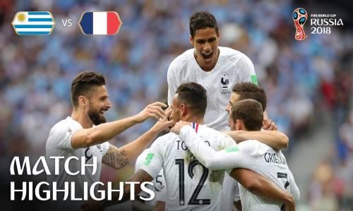 Uruguay 0 - 2 Fransa - 2018 Dünya Kupası Maç Özeti