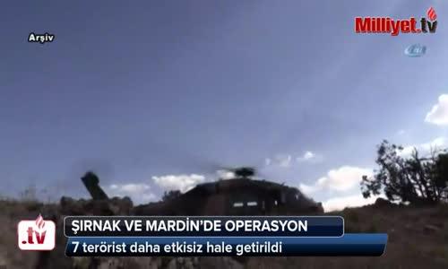 Şırnak ve Mardin'de 12 Terörist Etkisiz Hale Getirildi