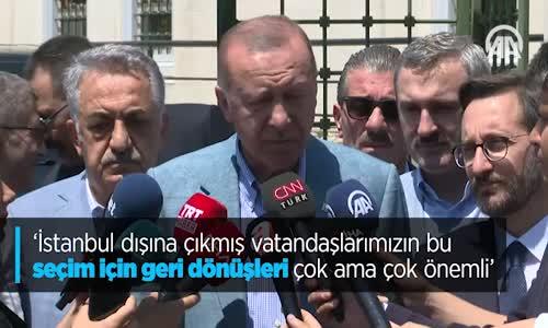 İstanbul Dışına Çıkmış Vatandaşlarımızın Seçim İçin Dönüşleri Önemli