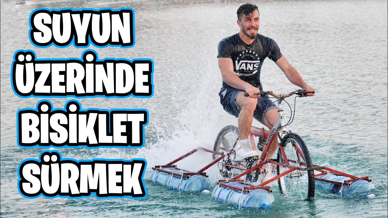 Suyun Üstünde Giden Bisiklet Yaptım!