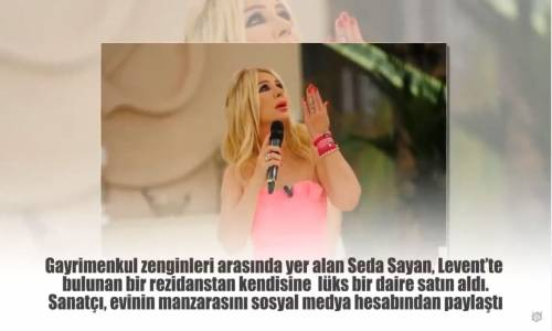Seda Sayan'ın 9 milyon TL'lik Yeni Huzur Yuavası